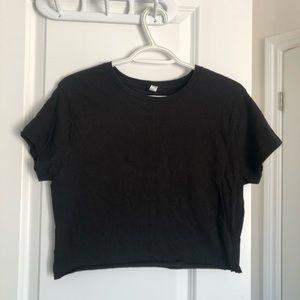 Tops - 🦋5/$40 basic plain black crop top